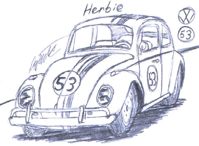 herbie coloring pages - disney 39 s herbie by agentc 24 on deviantart