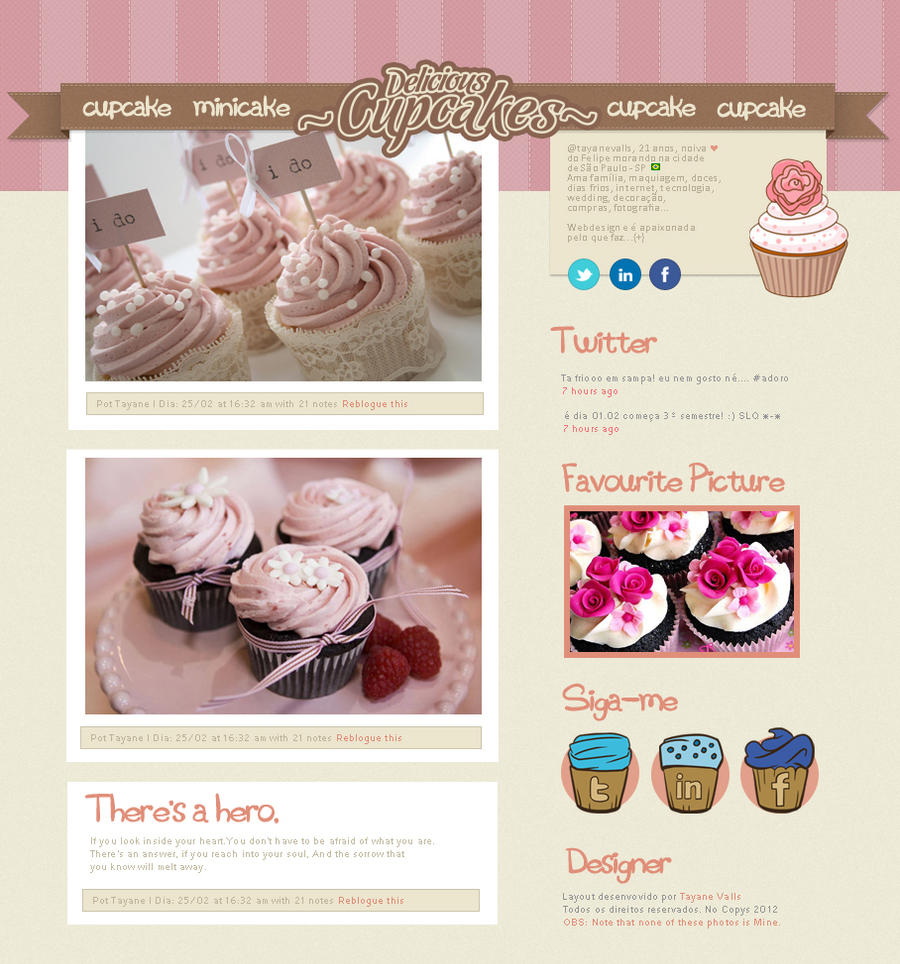Theme Para Tumblr Layout Cupcake By Tayanee On Deviantart