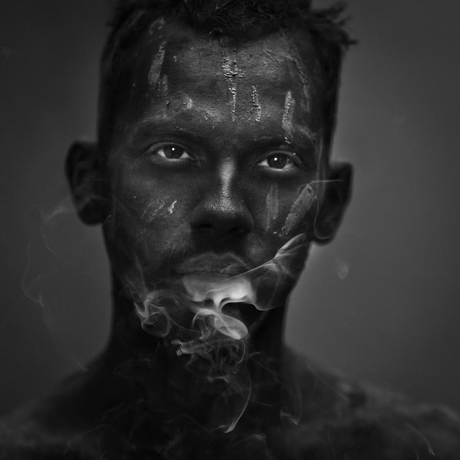 smoking boy by poivre