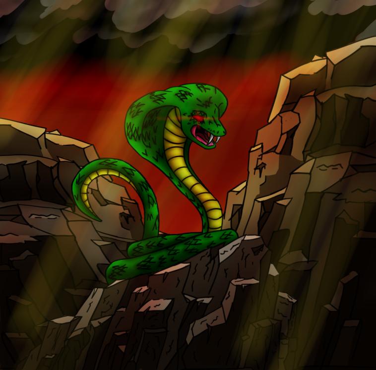 Magic the Gathering Snake by Nova-Illustration