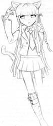 Neko-Kirigiri :3 by BlueButtefly