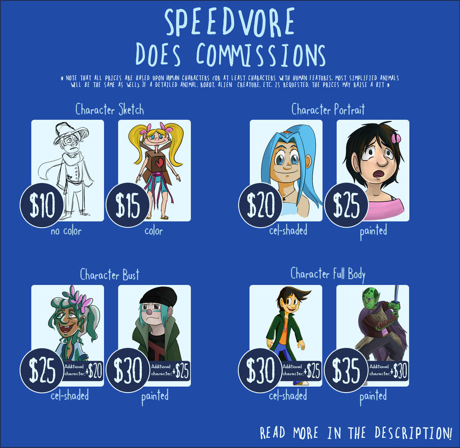 Commissions are OPEN by Speedvore