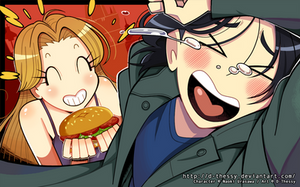 Burger Gasm by D-Thessy