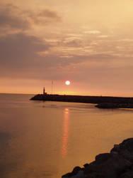 Sunrise on Mediterranee Sea