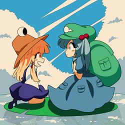 Frog and Kappa by raburine