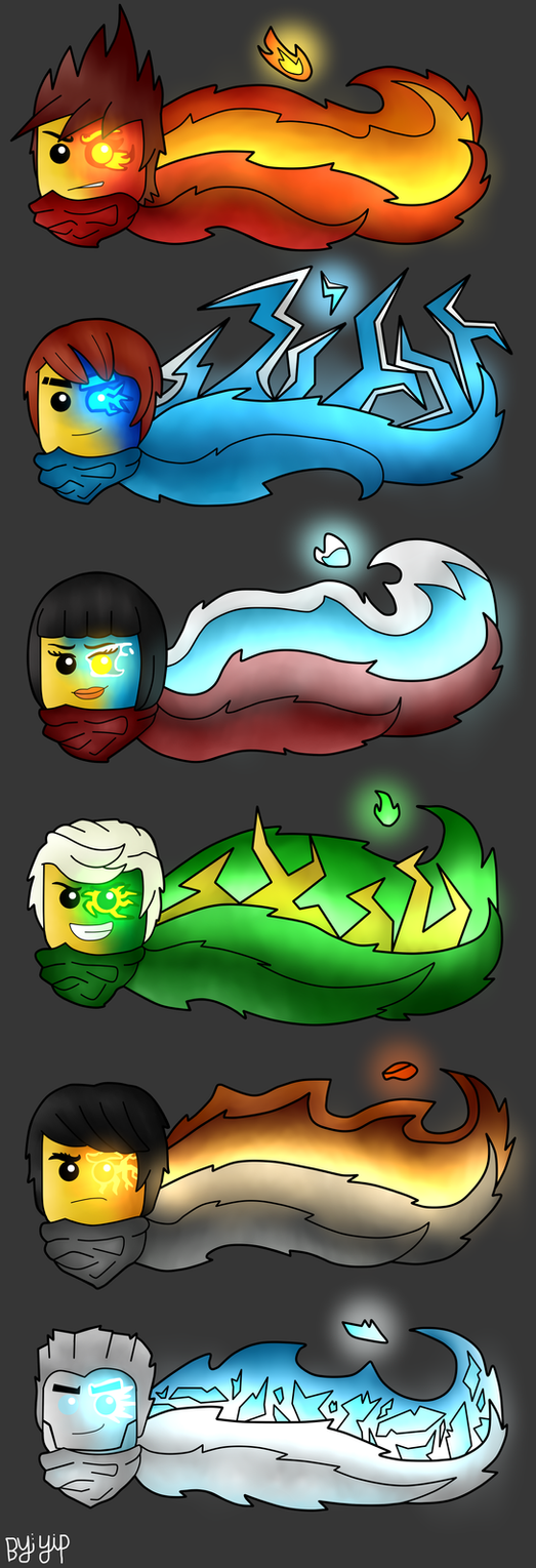 The Six Elemental Ninjas by yipkarhei2001