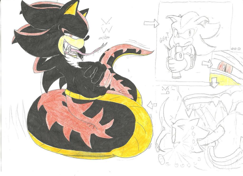 Sonic Burp Vore: Shadow Naga Vore By Werehog-laulau On DeviantArt