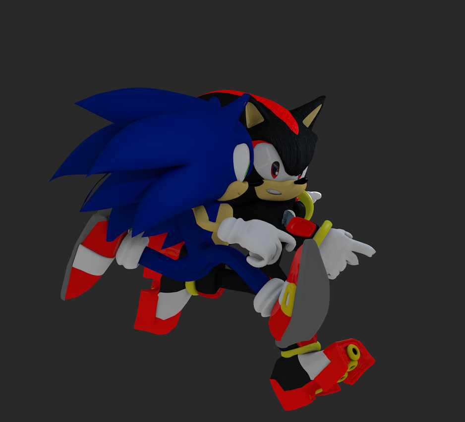 Sonic the werehog and shadow