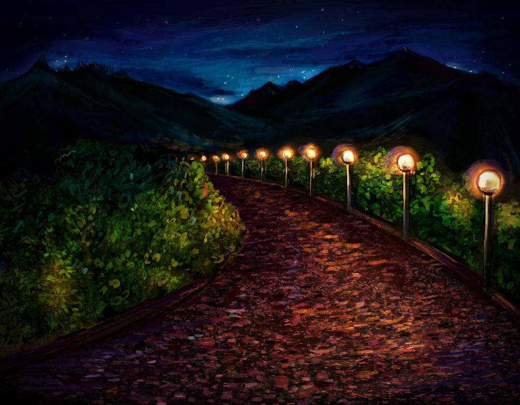 Paintings Of Cobblestone Paths : Cobblestone path by amirafox on deviantart
