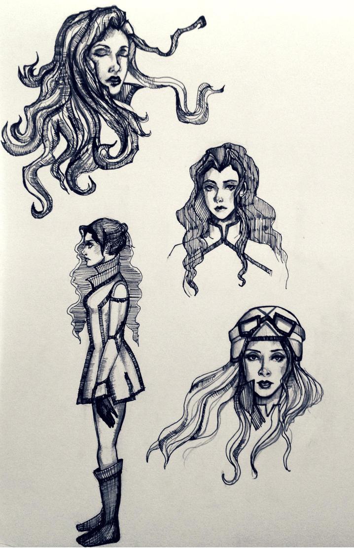 Doodle 3 -- Asami by amirafox