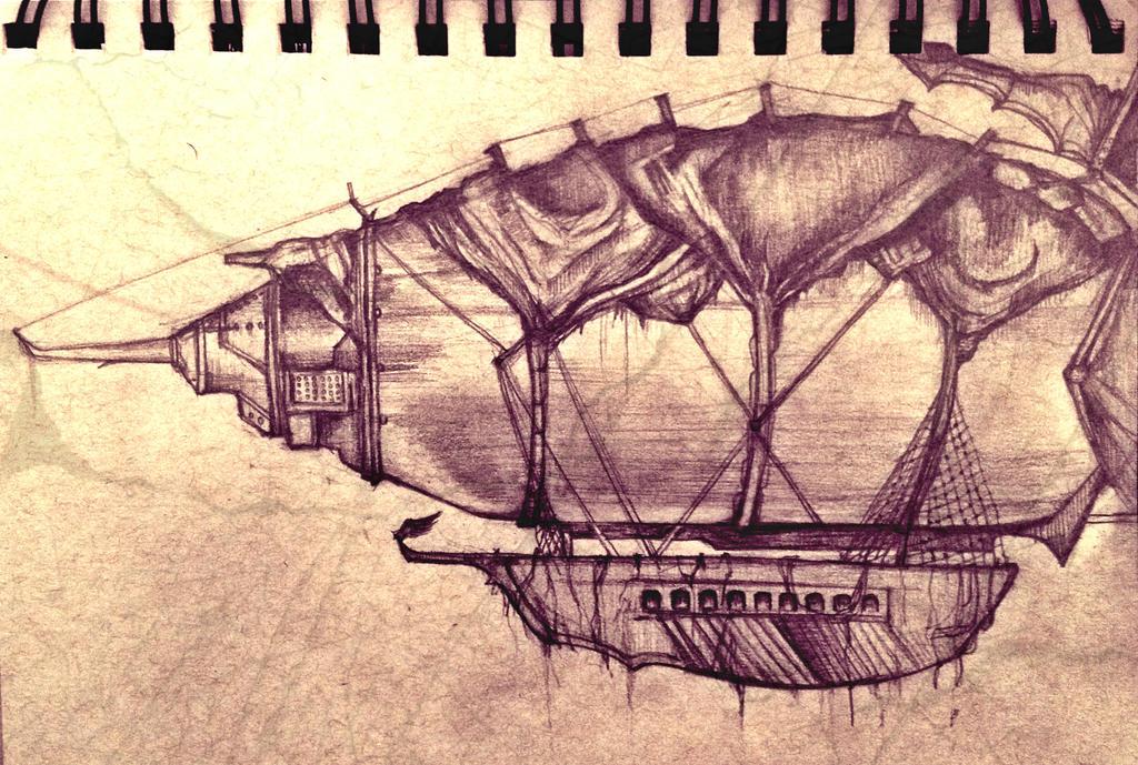Doodle 4 -- Zeppelin by amirafox