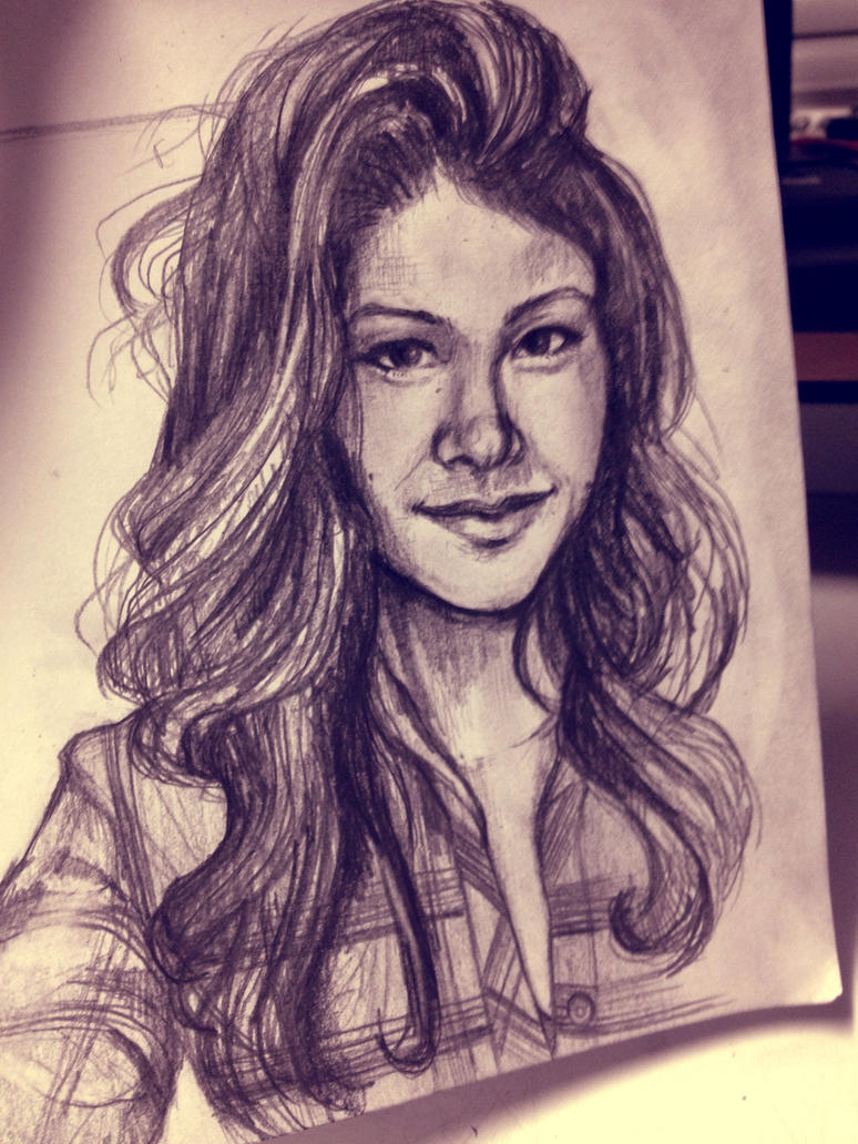 Sketch: Gina by amirafox