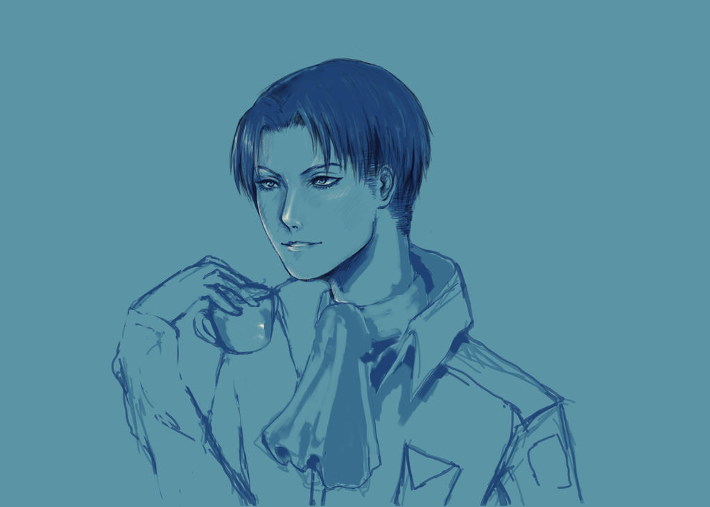 Levi Smiling WIP by amirafox