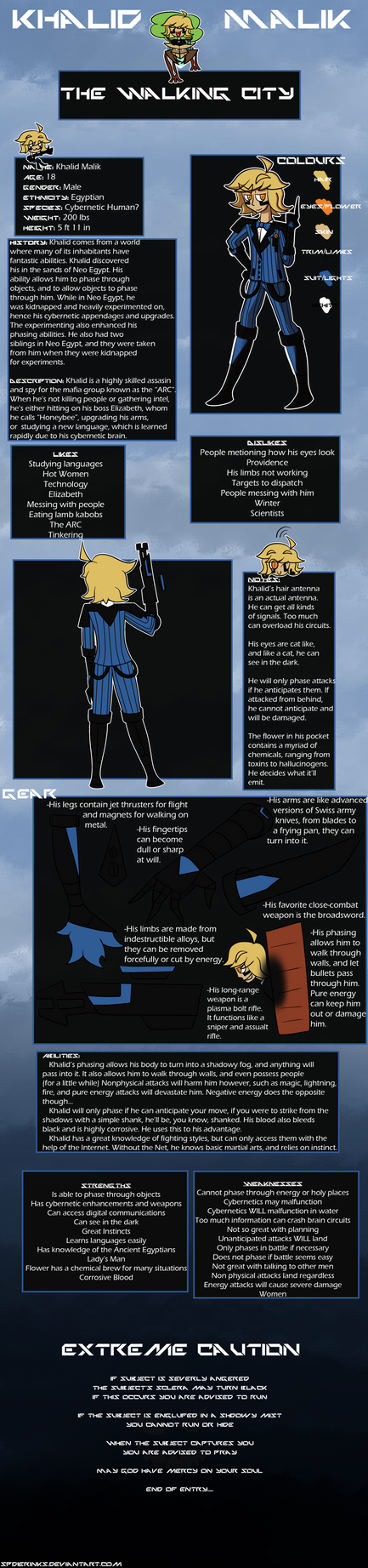 Walking City Reference: Khalid Malik by SpiderInks