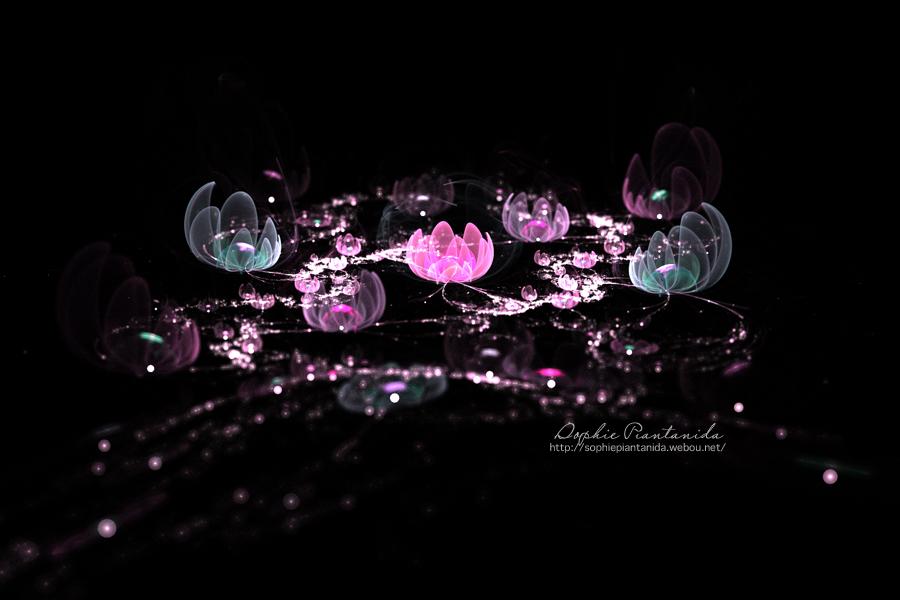 Purple Fractal Flowers Sea by Princess-Suki-W