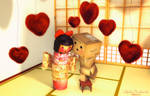 Danbo and Kokeshi Valentine 2014 by Princess-Suki-W