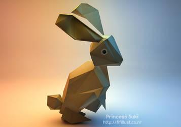 Let me fold you pretty rabbit