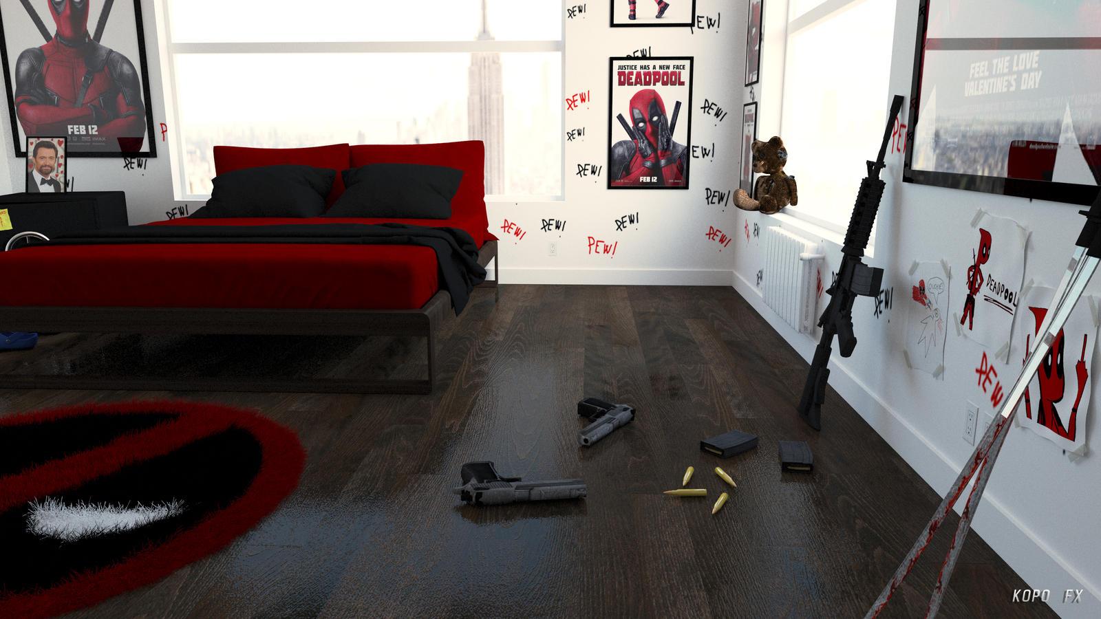 3d Deadpool Bedroom 3 By Kopofx On Deviantart