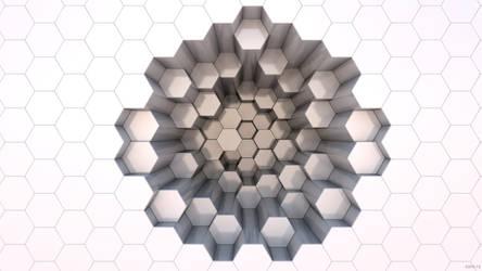 3D Hexagons Wallpaper 2