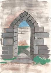 Arch at Rivington Castle by misaditas