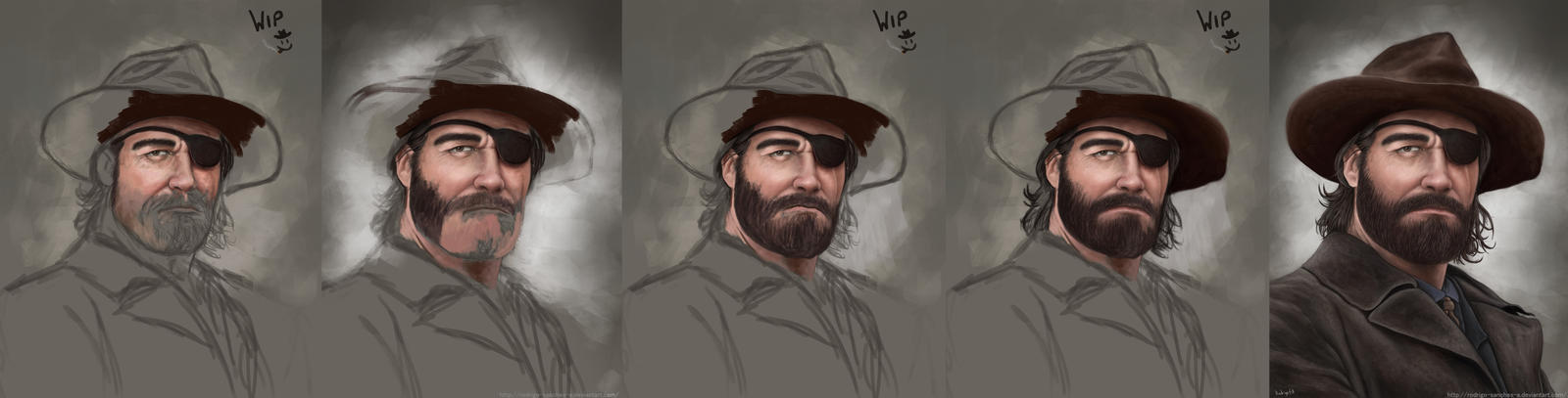 Cowboy Western : James Edwards WIP by Rodrigo-Sanches-A