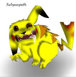 Rabid Pikachu by TitaniumTaco