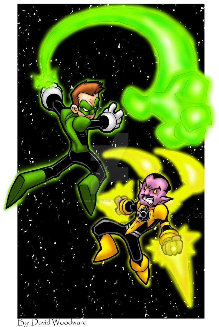 green lantern cartoon how to draw