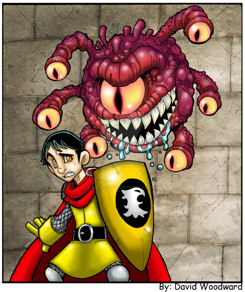DnD Eric and the Beholder by badgerlordstudios