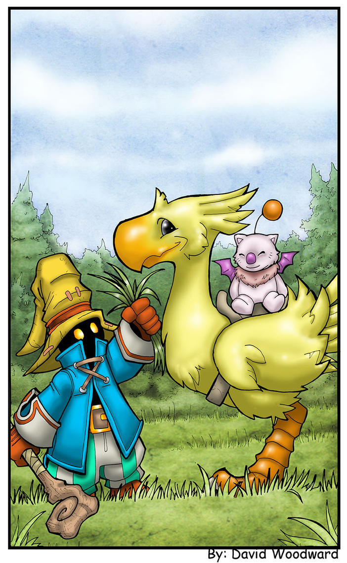 Chocobo FF9 by badgerlordstudios