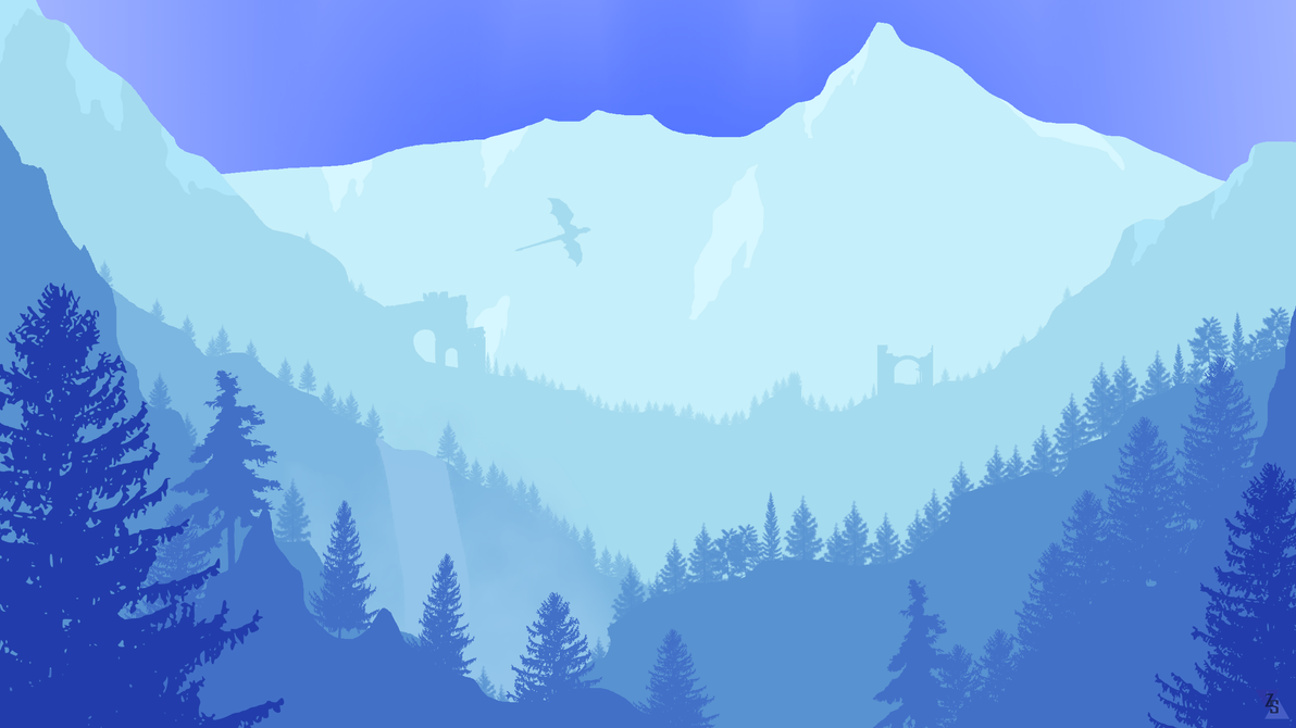 Good Wallpaper Mountain Minimalistic - minimalistic_mountain_wallpaper_by_zactheacorn-dbf08xe  You Should Have_908062.png