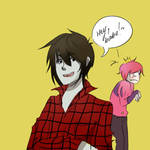 Marshall lee and bubble gum