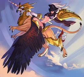 Ride the Magic Gryphon by nunchaku