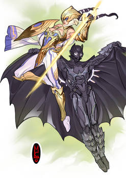 Batman and Wonder-woman, or are they?