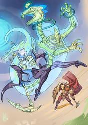 Dragonride by nunchaku