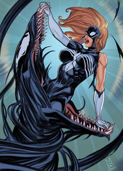 The symbiote wants Spider-woman