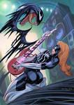 Shredd down the Symbiote by nunchaku