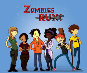 Zombies, Run! - Adventure Time by thewondersmith