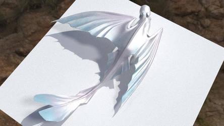 Light Fury 3D Model - Rigging