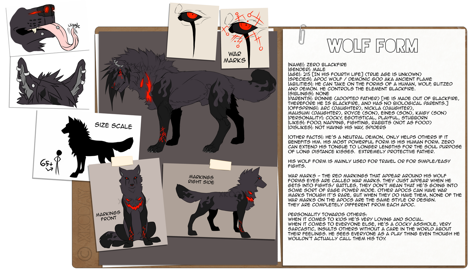 Zero BlackFire Wolf Form Ref