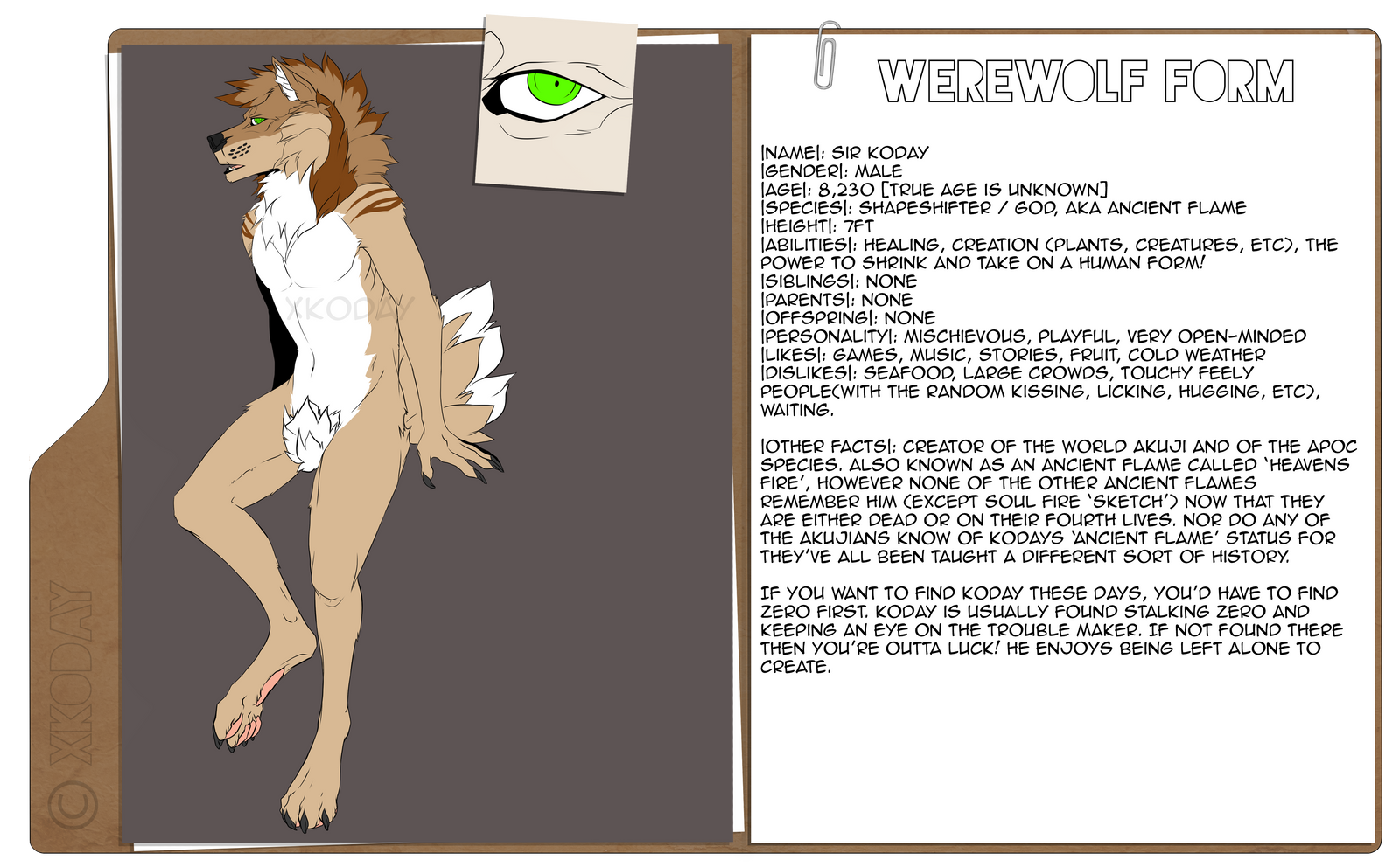 Sir Koday Werewolf Ref by xKoday