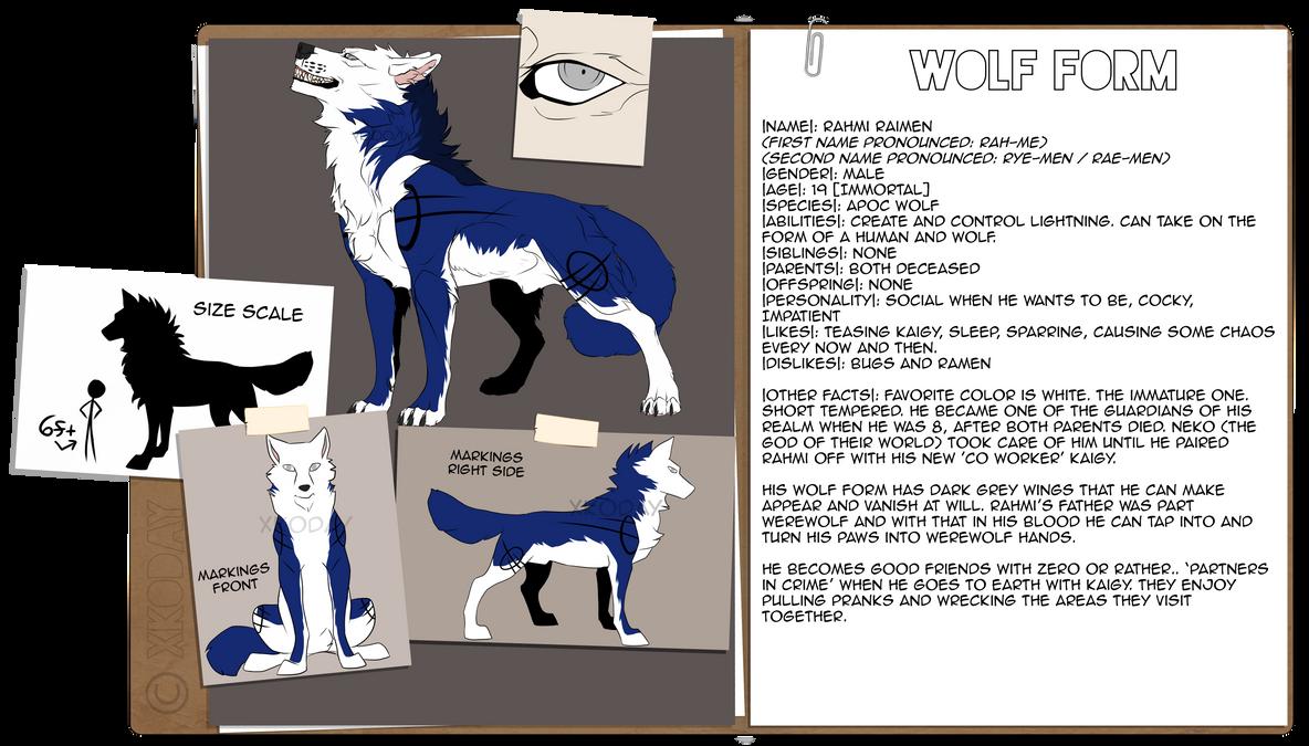 Rahmi Raimen Wolf Form Ref by xKoday