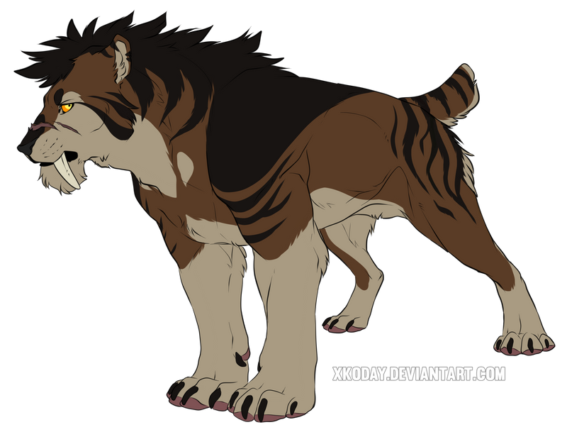 how to draw a realistic saber tooth tiger