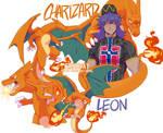 Charizard and Leon