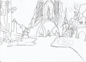 Crystal Empire Sketch