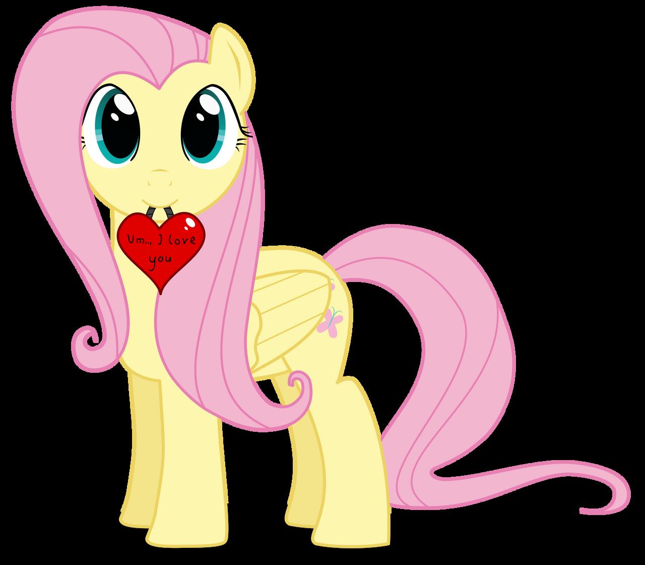 Fluttershy: Um.., I love you! by TBCroco on DeviantArt