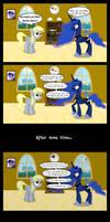 Derpy meets Luna in her new house (comic version)