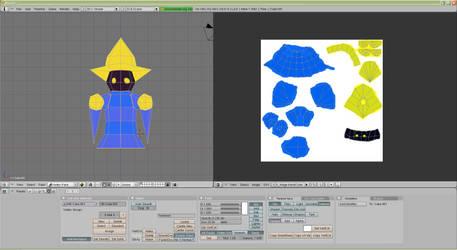 Papercraft Black Mage Update 1 by La-Bomba-Frita