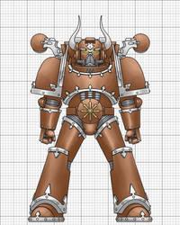 Bronze Dragon Chaos Space Marine by La-Bomba-Frita