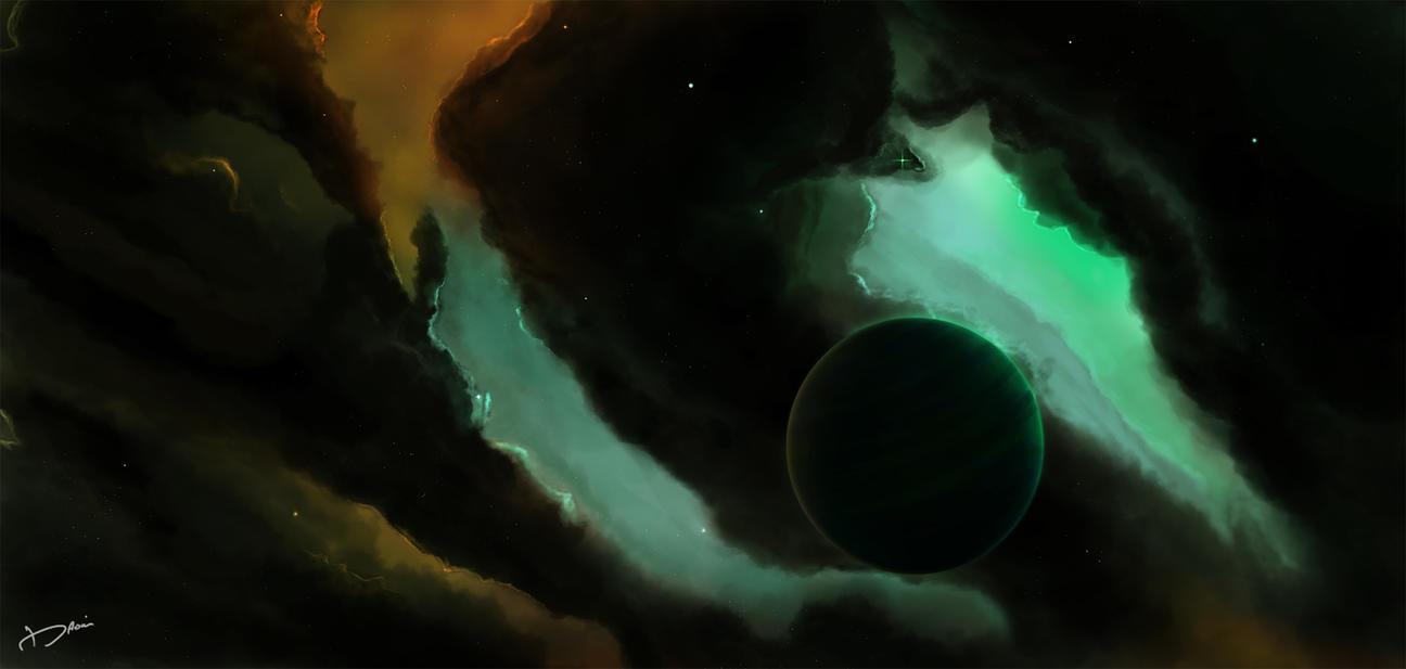 Space Art by DarknesFreak