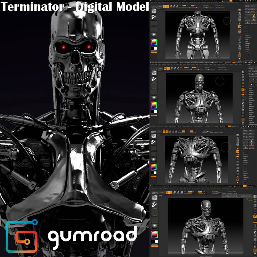 Terminator - Digital Model  by jeiartist on DeviantArt